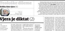 Dr. Mustafa Cerić: Kritika čiste vjere (III): Vjera je diktat (2)