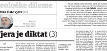 Dr. Mustafa Cerić: Kritika čiste vjere (IV): Vjera je diktat (3)