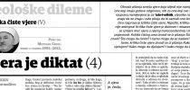 Dr. Mustafa Cerić: Kritika čiste vjere (V): Vjera je diktat (4)