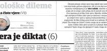 Dr. Mustafa Cerić: Kritika čiste vjere (VII): Vjera je diktat (6)
