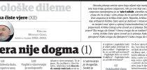 Dr. Mustafa Cerić: Kritika čiste vjere (XII): Vjera nije dogma (1)